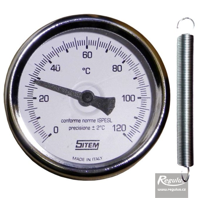 Photo: 0-120°C Contact thermometer, retaining spring, d=63mm