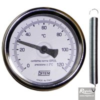 Picture: 0-120°C Contact thermometer, retaining spring, d=63mm