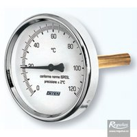 "Picture: 0-120°C Thermometer, sheath l=150, 1/2"", d=63mm, rear conn."