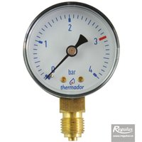 "Picture: Pressure gauge, 4 bar, d=50mm, G 1/4"", bottom conn."