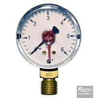 "Picture: Pressure gauge, 6 bar, d=50mm, G 1/4"", bottom conn."