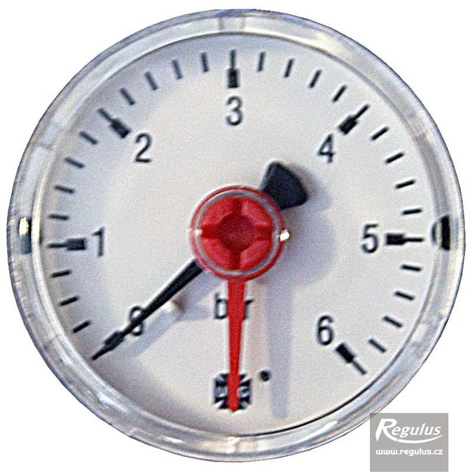 "Photo: Pressure gauge, 6 bar, d=50mm, G 1/4"", rear connection"