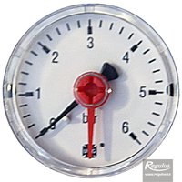 "Picture: Pressure gauge, 6 bar, d=50mm, G 1/4"", rear connection"