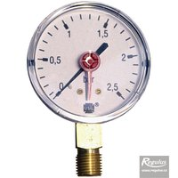 "Picture: Pressure gauge, 2.5 bar, d=63mm, G 1/4"", bottom conn."