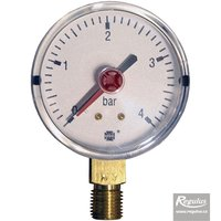 "Picture: Pressure gauge, 4 bar, d=63mm, G 1/4"", bottom conn."