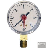 "Picture: Pressure gauge, 6 bar, d=63mm, G 1/4"", bottom conn."
